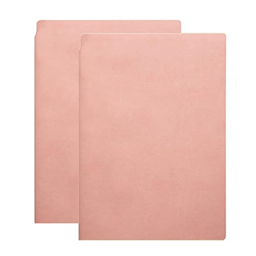 FACHAI Cuaderno A5, diario de cuero con tapa dura vegana, extra grueso con 200 páginas, almohadilla de escritura a rayas, páginas premium de 80 g/m², 8.3 x 6.1 pulgadas