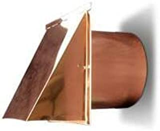 8 Inch Copper Exterior Side Wall Cap with Damper and Screen