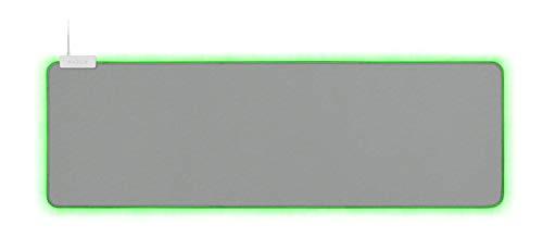Razer Goliathus Extended Chroma Gaming Mousepad: Customizable Chroma RGB Lighting - Soft, Cloth Material - Balanced Control & Speed - Non-Slip Rubber Base - Mercury White (Renewed)