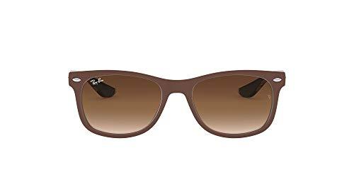 Ray-Ban Unisex-Kinder New Wayfarer Junior Sonnenbrille, Braun (Top Matte Br On Blue), 48