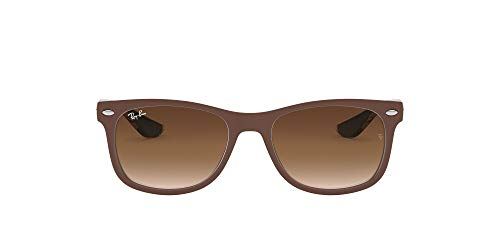 Ray-Ban Junior Unisex-Kinder New Wayfarer Junior Sonnenbrille, Braun (Top Matte Br On Blue), 48
