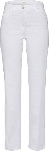 BRAX Damen Straight Leg Hose CAROLA SPORT, Weiß (White 99), 36