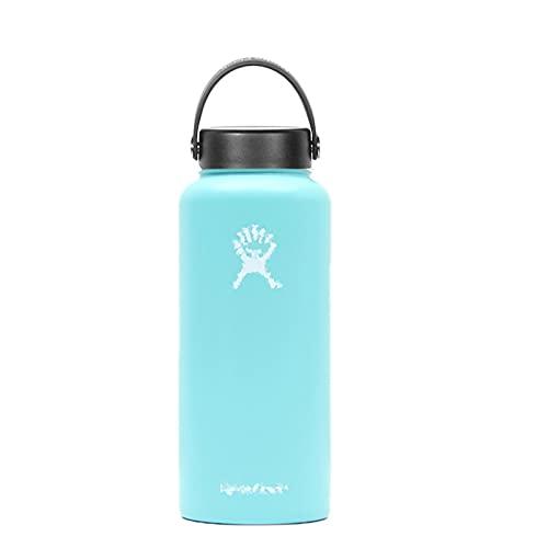 mingtian Botella Deportiva de Calidad de 18 oz, Frasco de Vaso, Botella de Agua de Acero Inoxidable con Aislamiento al vacío, Boca Ancha, Color sólido 15