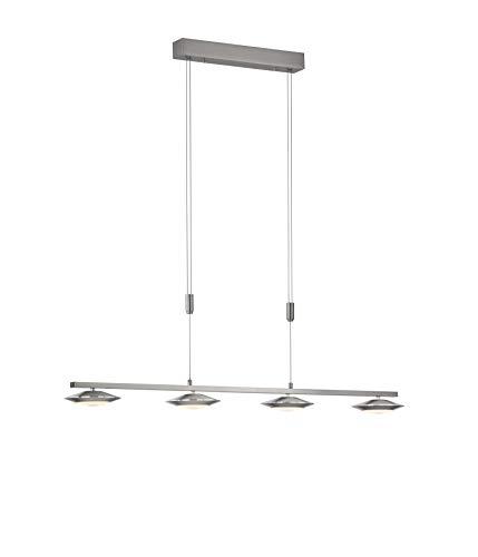 Fischer&Honsel Beta Zig Pendelleuchte, Metall, 5.5 W, nickelfarben