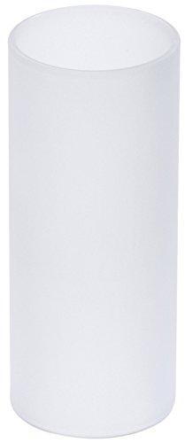 blomus -FARO- Ersatzglas zu Windlichterset Art. 65054, 65055, 65059, satiniertes Glas, hochwertige Verarbeitung, passend für Windlichter der Serie FARO (H / B / T: 12 x 4,8 x 4,8 cm, Klar, 88024)