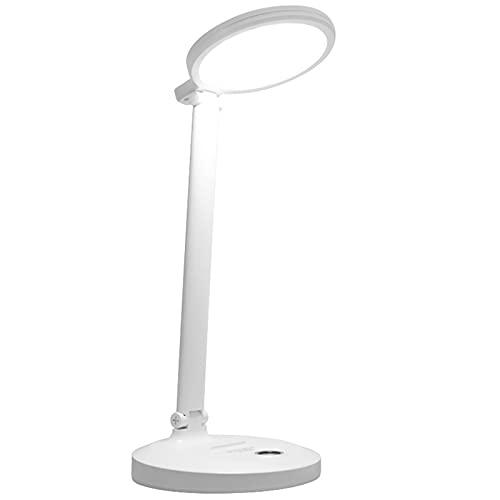 shihang Lámpara Escritorio LED, Flexo De Escritorio Regulable con Puerto USB Atenuación Continua 3 Modos, Función De Memoria, Control Táctil, Cuidado De Ojos,4000mAh
