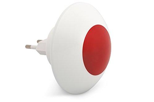 ednet Smart Alarm Funk Alarmsignal für den Innenbereich, integrierter Akku mit 8 Stunden Standby, 110 dB Alarmsignal, 230 V