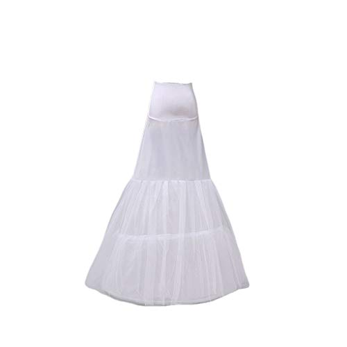 Mikiya Fashion Little Fishtail Lady taille heuptas bruid jurk petticoat lange slip wit slip rok