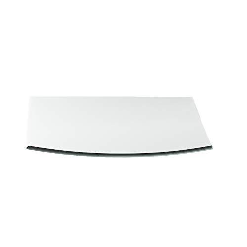 Vonkenscherm G27 Segmentboog ESG 6mm x 1000mm x 1000mm met 18mm facet glasplaat bodemplaat schoorsteenplaat vonkenbescherming ovenplaat open haard glas