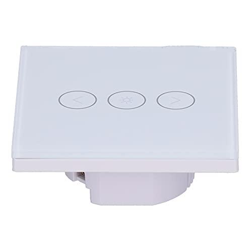 Interruptor táctil de Pared, Interruptor de luz LED Compatible Práctico y Duradero para la Familia Lámparas LED de atenuación Continua Lámparas incandescentes