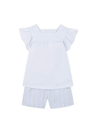 Gocco PIAJAM Combinado Conjuntos de Pijama, Blanco (Blanco