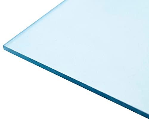 Lámina de policarbonato compacto | Todos los grosores | Gran variedad de medidas | Transparente, protección contra rayos UV (80 x 60cm x 1mm)
