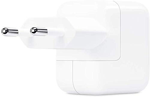 Caricatore USB da 12W compatibile con iPad, Bianco, CaricaBatteria/Alimentatore per iPhone iPod iPad, Presa USB Power Adapter 12W per iPhone iPad Tablet Apple Watch, senza Confezione
