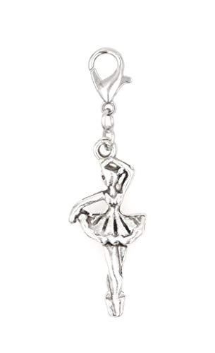 Its All About...You! Ballerina Dancer Clip on Charm Perfect for Necklaces and Bracelets 103E