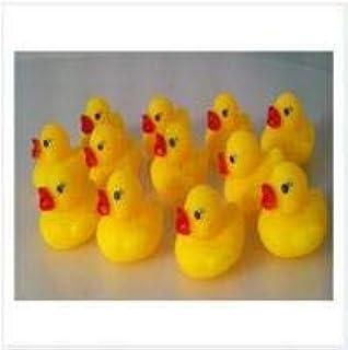asdfwe 12 Unidades De Goma del Pato Flotante del Juguete con Los Sonidos para Baño De Los Niños del Pato