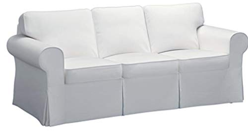 The Sofa Cover Is 3 Seat Sofa Slipcover Replacement. It Fits Pottery Barn PB Basic Three Seat Sofa (Basic White)