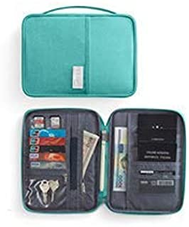 Travel Wallet Passport Holder, Family Waterproof Document Organizer Fits Credit Cards, Phone and Tickets, Stylish Light weight with Hand Strap. (Lake Blue) Dream Travel By Cloudin