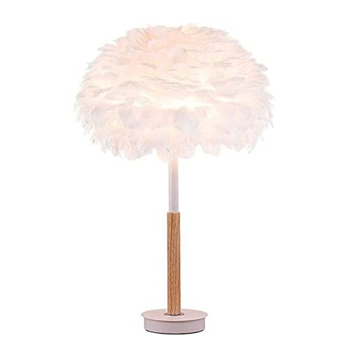 Lámpara de mesa Lámparas de escritorio Lámpara de plumas Shade White Lámpara de cama Lámpara de pie para sala de estar Habitación para niños Habitación Boda de boda o decoración de la fiesta Lámpara d