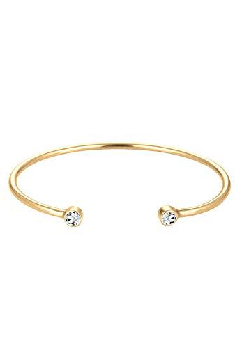 Elli Armband Damen Armreif Geo Minimal mit Swarovski® Kristallen in 925 Sterling Silber