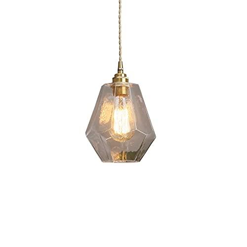 Bkrred Lampada a Sospensione Moderna Nordic Creativo lampadario in Ottone Pendant Light Esagonale Diamante Guardaroba soffitto della Luce E27 / E26 Vetro plafoniere Chandelier