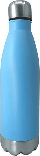 NERTHUS Pared Simple Azul de Acero Inoxidable 750 ml, Agua, Botella Reutilizable, 29 x 7,5 x 7,5 cm