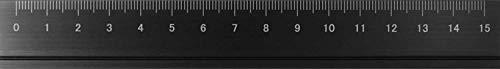 アルミルーラーS 定規 線引き シンプル 0cm表記付き カッター定規 ギフト 15cm アルミ製 ブラック DAR-2802 スリップオン