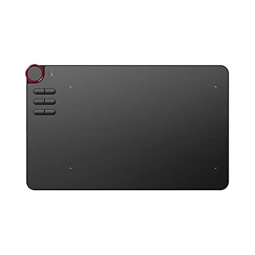 TWDYC Tableta de Dibujo de Dibujo de gráficos Digitales inalámbricos con Tableta con lápiz pasivo sin batería y 6 atajo