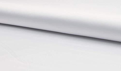 Fabrics-City WEIß SEIDIG STRETCHSATIN STRETCH SATIN STOFF SATINSTOFF STOFFE METERWARE, 4401