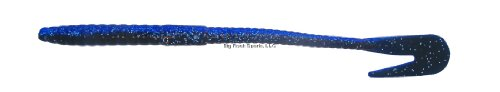 Bass Assassin RW58477: Rail Worm 7 Blue Shadow Glitter