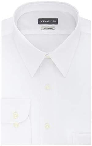 Van Heusen Men s Poplin Regular Fit Solid Point Collar Dress Shirt White 15 Neck 32 33 Sleeve product image