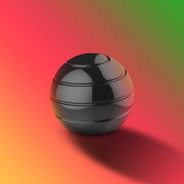 TuToy Decompression Gyroscope roterende bal bolvormige bureau Gyro optische Illusie stromen volwassenen speelgoed, Zwart, 1
