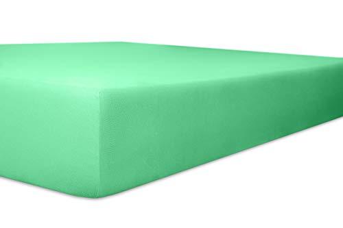 Kneer Spannbettlaken Single-Jersey, Lagune, Größe Bettlaken:180 x 200-200 x 200