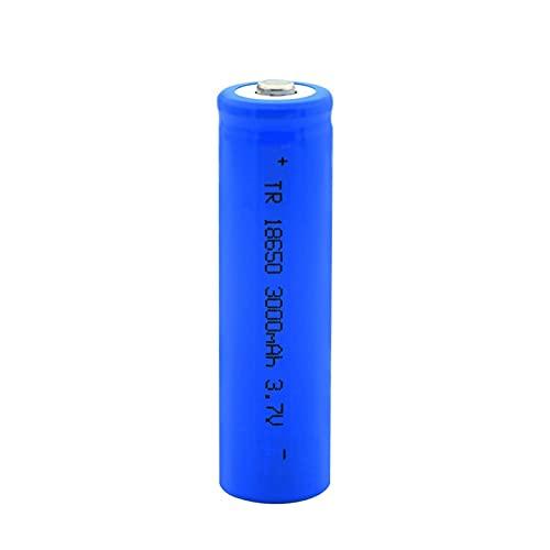 ZhanMazwj 18650 BateríAs Recargables 3.7v 3000mah Batería De Iones De Litio De Litio, Celda De Carga De Punta Azul para Linterna 1pc