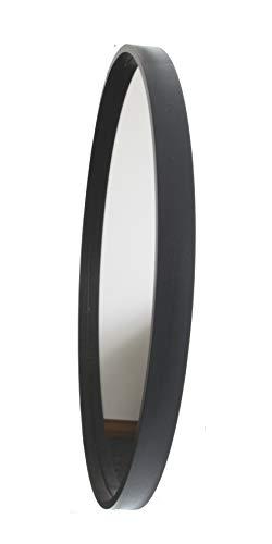 BD ART Modern Round Framed Mirror, Wall Mirror, 50 cm diameter (19.68 inches), Wood, Color Black