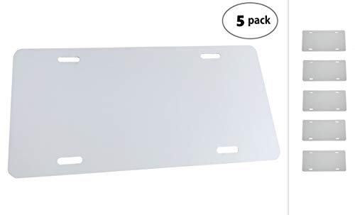 Paper-Thin Plastic License Plate Blank .020 0.5mm Standard US//Canada Size 12x6 Laser Cut in USA White 10-Pack
