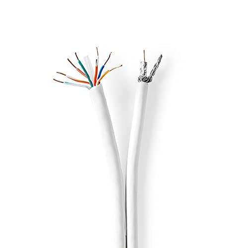 Bobina Cable Coaxial/CAT6 Combinado - 50,0 m