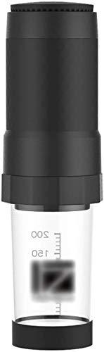 COOLSHOPY Portátil Cafetera, Manual del café Express de la máquina Compatible con café molido for la Seguridad del Viaje Acampar al Aire Libre