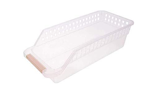 Souler Kunststoff-Eierkorb Ablagekorb Eierkorb, Kühlschrank Kunststoff-Aufbewahrungskorb, Getränkeschublade Aufbewahrungsbox, Küche Aufbewahrungsbox Aufbewahrungskorb, Weiß