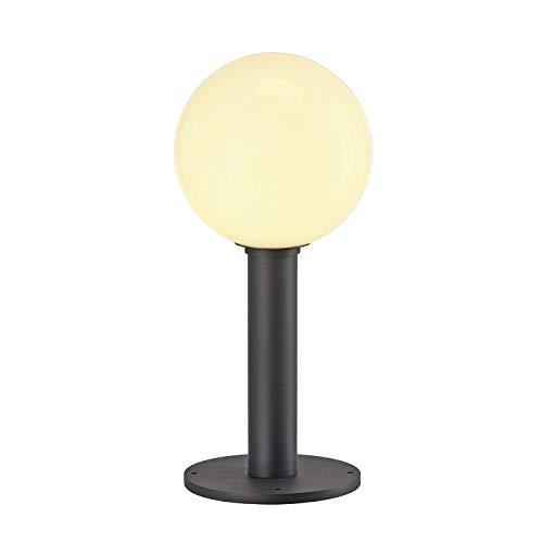 SLV LED Kugelleuchte GLOO PURE 44 | Stand-Leuchte zur Außen-Beleuchtung, Kugellampe, Leuchtkugel | Outdoor Wege-Leuchte, Stehlampe außen, Garten-Beleuchtung, Garten-Lampe | E27, max. 23W, EEK E-A++