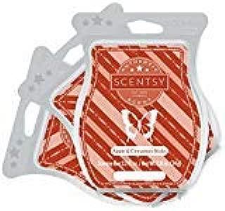 Scentsy, Apple & Cinnamon Sticks, Wickless Candle Tart Warmer Wax 3.2 Oz Bar, 3-pack (3)