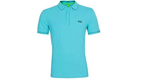 Hugo Boss Hombres Azul Paule Golf Pro Slim Fit Stretch Polo camiseta...