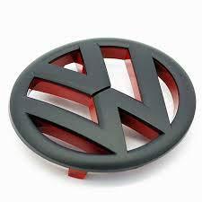 Zwart en rood mat Golf MK6 embleem emembleem radiator grill voor - 2009 tot 2012