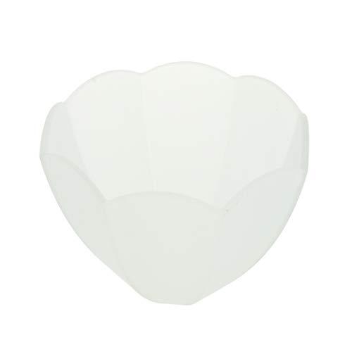 PETSOLA Vidrio de Techo Diseño único Lámpara de Araña Pantalla de Repuesto Tonos de Luz Blanco Satinado - Estilo 6, Individual