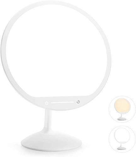 """Gladle Tageslichtlampe 10000 Lux, Light Therapy Lampe, LED Lichttherapielampe mit 30min Timer 2 Farbtemperatur 10"""" Beleuchtungsfläche, Stufenlose Helligkeitsanpassung Touchbedienung"""