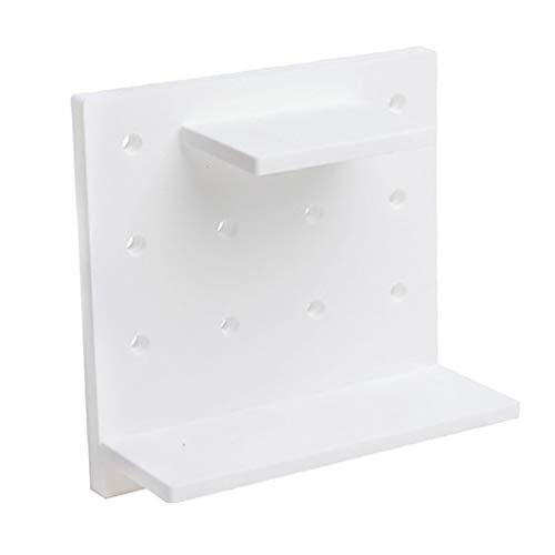 Sharplace Étagère De Stockage Fixée Au Mur Auto-adhésive en Plastique Multi-Fonctionnelle De DIY - Blanc