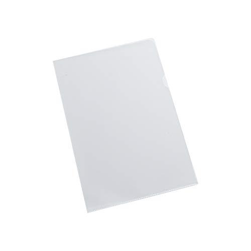 SCHÄFER SHOP Sichthüllen mit Griffausstanzung A4 glatt/transparent oben und seitlich offen 0,12 mm 25 Stück