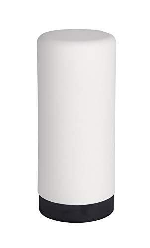 Wenko Spülmittelspender Easy Squeez-e, Spender für Spülmittel in der Küche, Seifenspender aus Silikon, Fassungsvermögen 250 ml, Ø 6 x 14 cm, weiß