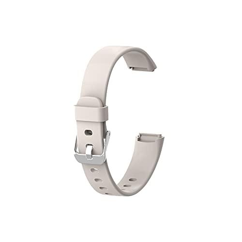 Neubula - Correa de silicona compatible con Fitbit-Luxe para seguimiento de la situación física, correa de reloj inteligente, accesorio de repuesto para hombres y mujeres (21,5 cm, blanco)
