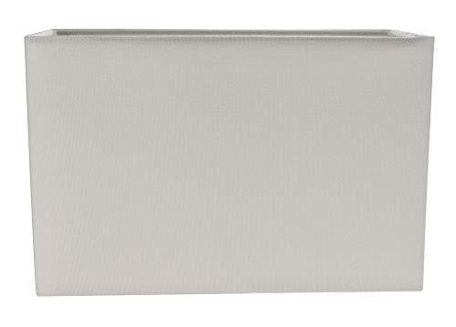Zeitgemäßer und stilvoller Taube Grauer Leinenstoff Rechteckiger Lampenschirm aus Stoff von Happy Homewares