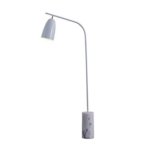 Metal Floor Lamp Verstelbare Hoofd van de Lamp Living Room Verlichting Verticale Lamp met Heavy Marble Gebaseerd Bedroom Study LED leeslamp LED (Color : Gray, Size : 50cm*150cm)